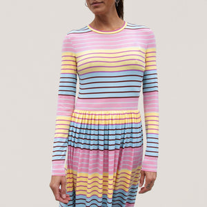 Stine Goya - Joel Dress - Stripe, front view, available at LCD.