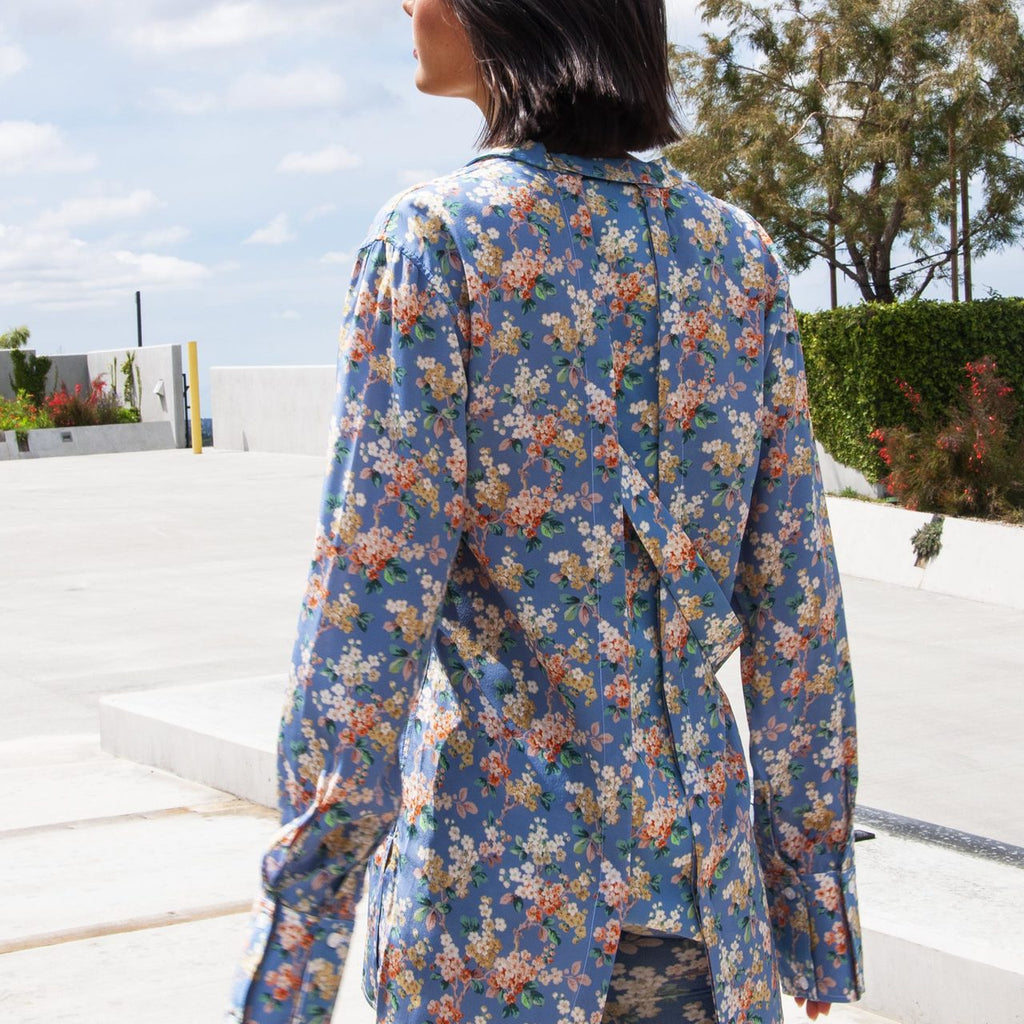 Delada - Josephine Oversized Shirt, rear view, available at LCD.