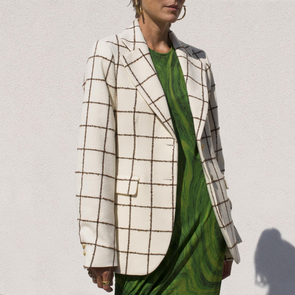 Wales Bonner - Judah Tailored Jacket, angled view.