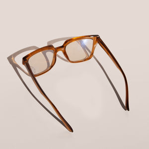 The Book Club - Just Picture... Glasses - Turmeric, back view, available at LCD.