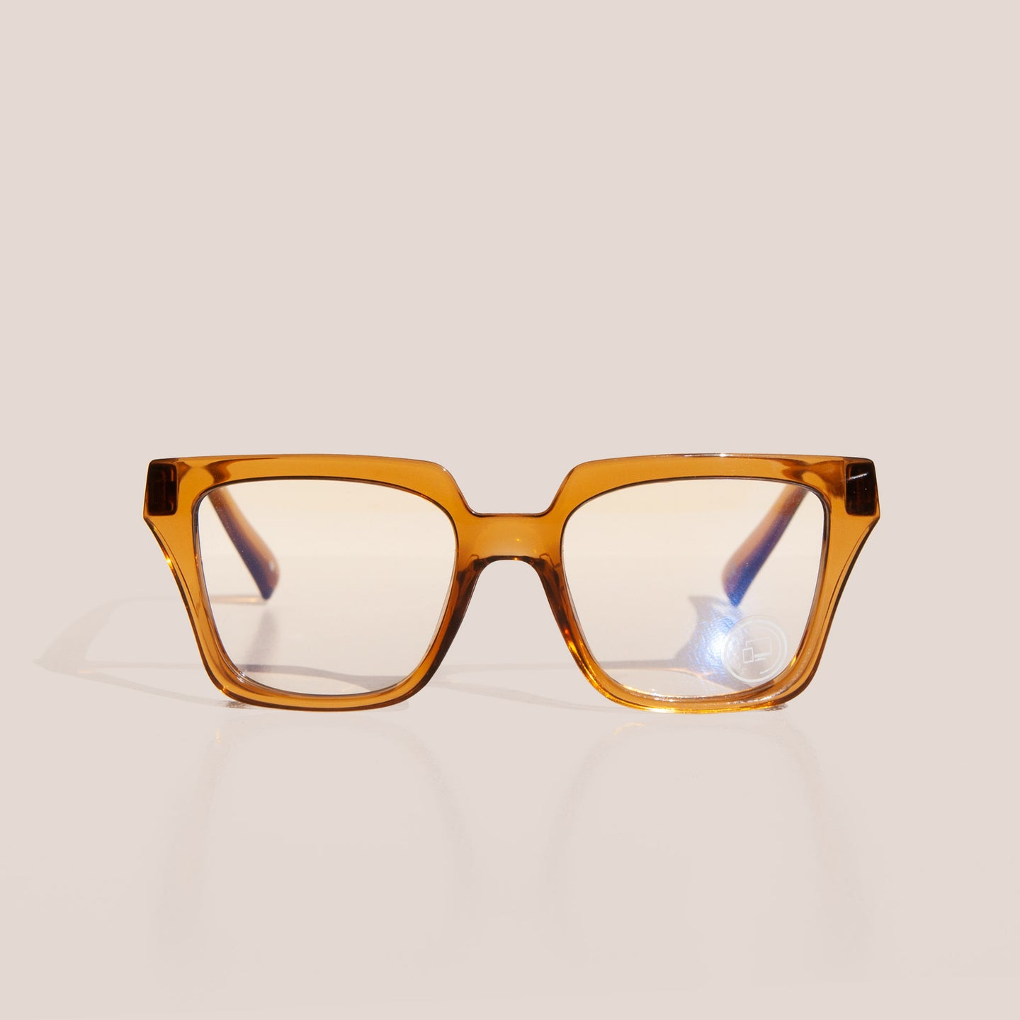 The Book Club - Just Picture... Glasses - Turmeric, front view, available at LCD.