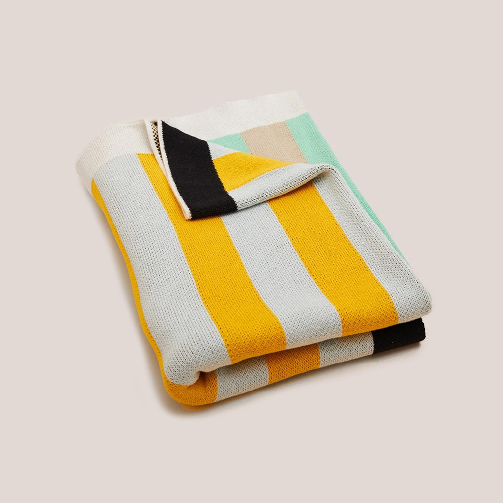 Dusen Dusen - Knit Throw - Stripe.