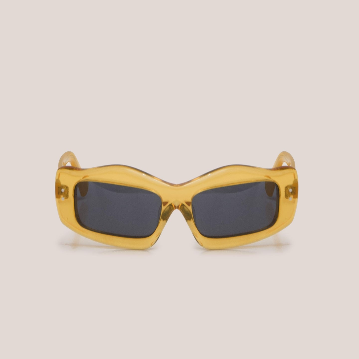Braindead - Kurata Sunglasses - Multi Amber, front view, available at LCD.