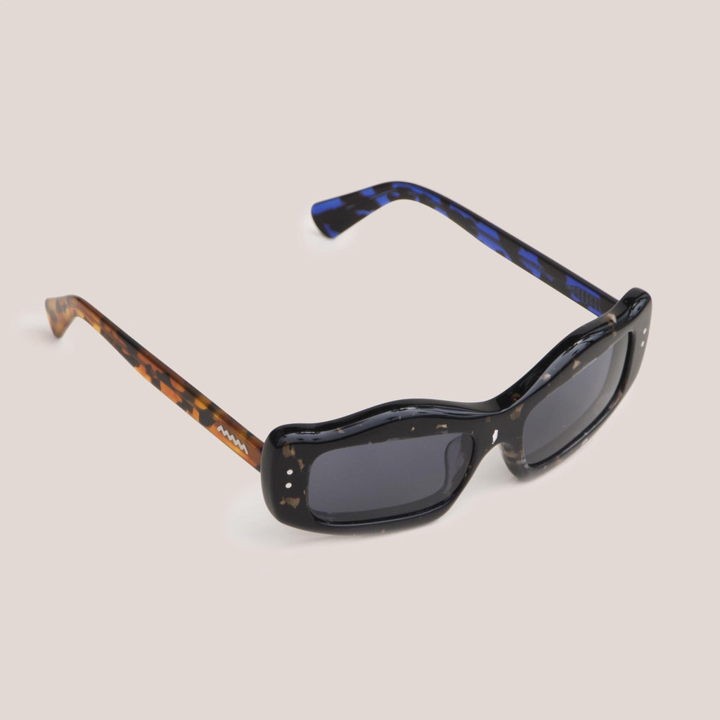 Braindead - Kurata Sunglasses - Tri Tortoise, angled view, available at LCD.