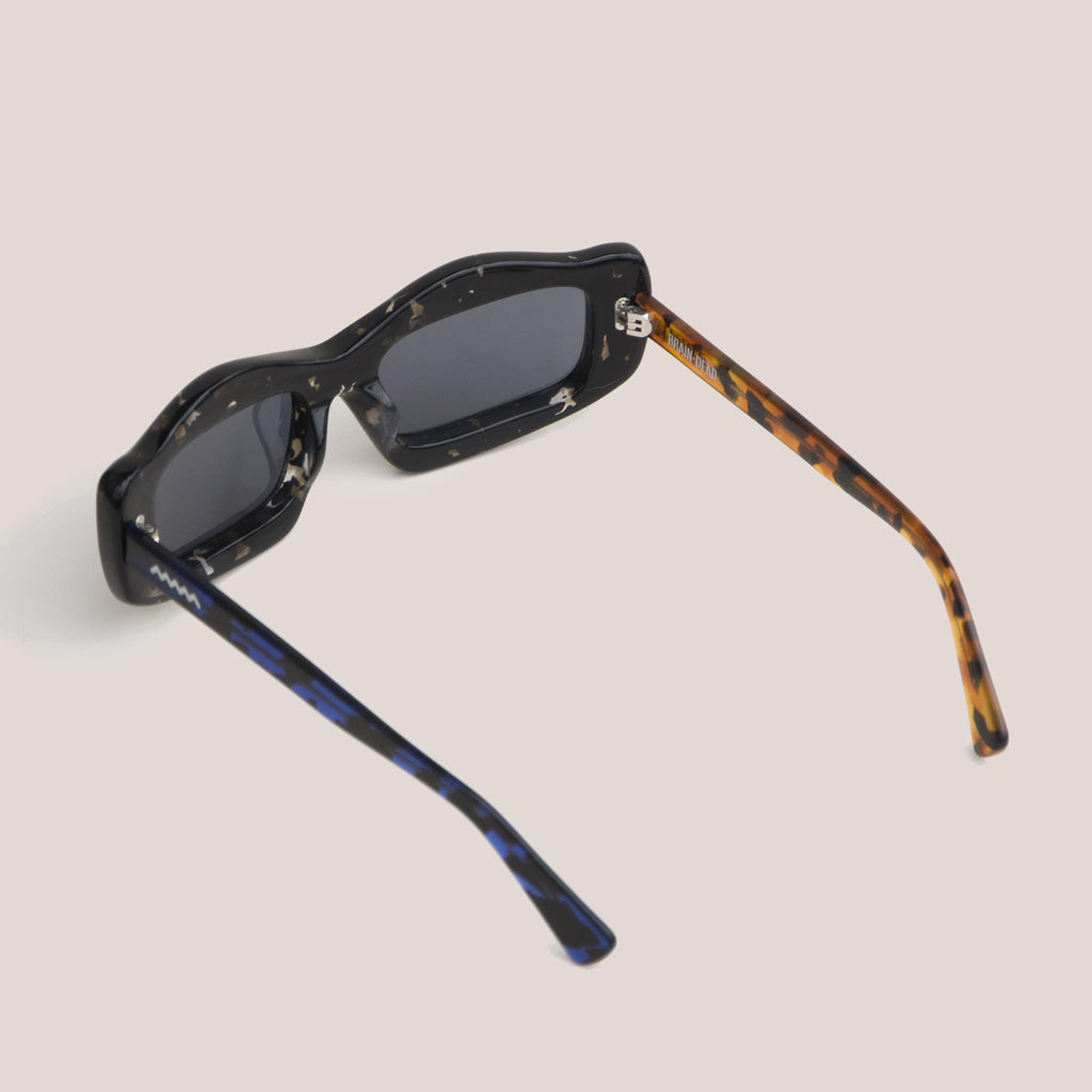 Braindead - Kurata Sunglasses - Tri Tortoise, back view, available at LCD.