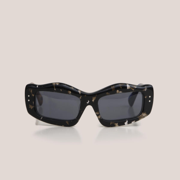 Braindead - Kurata Sunglasses - Tri Tortoise, front view, available at LCD.
