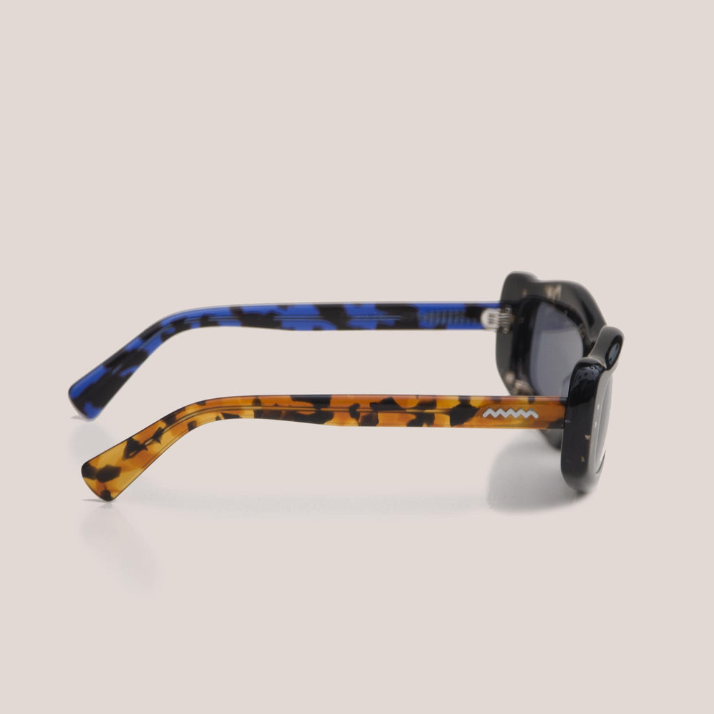 Braindead - Kurata Sunglasses - Tri Tortoise, side view, available at LCD.