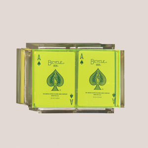 Luxe Dominoes - La Pinta Card Set, Neon Green, available at LCD.