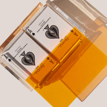 Load image into Gallery viewer, Luxe Dominoes - La Pinta Card Set, Neon Orange, available at LCD.