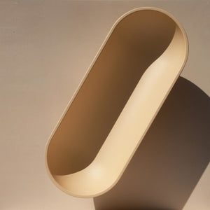 Fort Standard - Large Standing Bowl - Cream, available at LCD