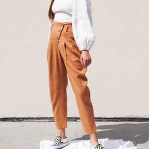 Rejina Pyo - Larissa Trousers, angled view, available at LCD.