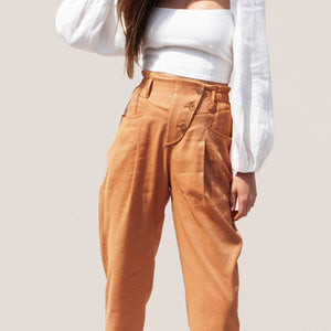 Rejina Pyo - Larissa Trousers, detail view, available at LCD.