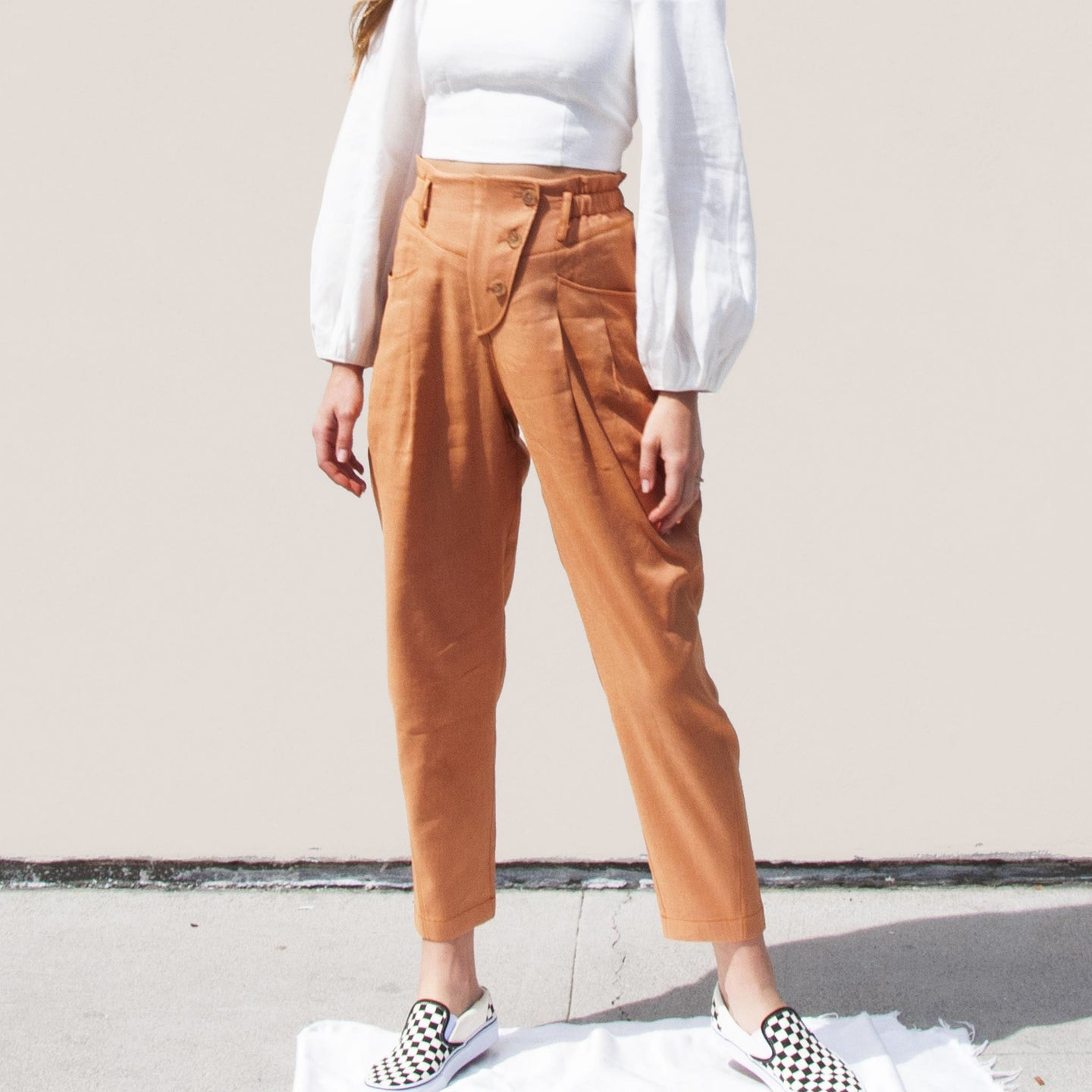 Rejina Pyo - Larissa Trousers, front view, available at LCD.