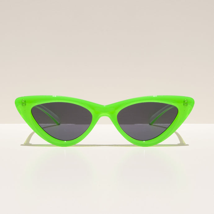 Adam Selman x Le Specs - The Last Lolita Sunglasses - Neon Lime, front view, available at LCD.