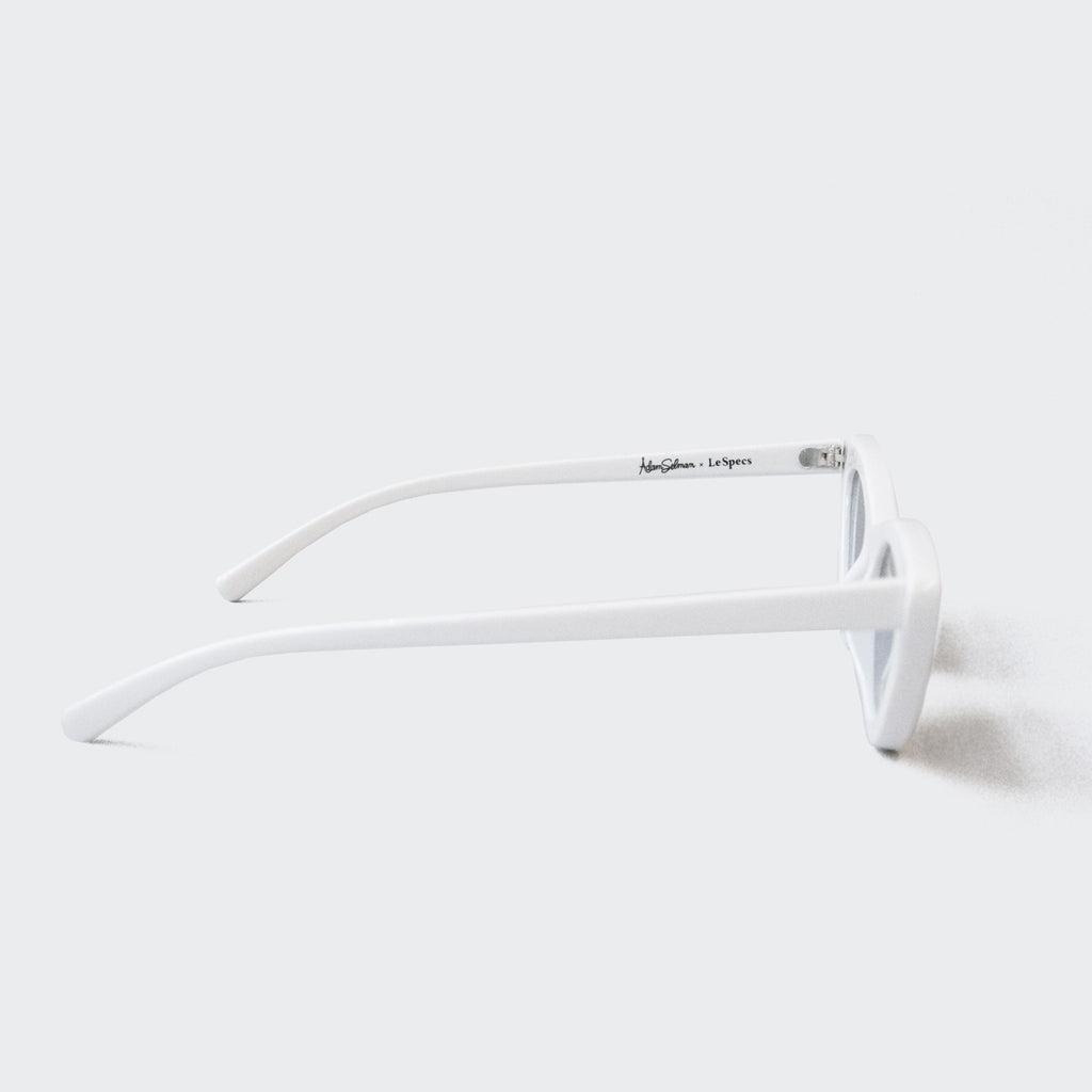 Adam Selman x Le Specs - The Last Lolita Sunglasses - White, available at LCD