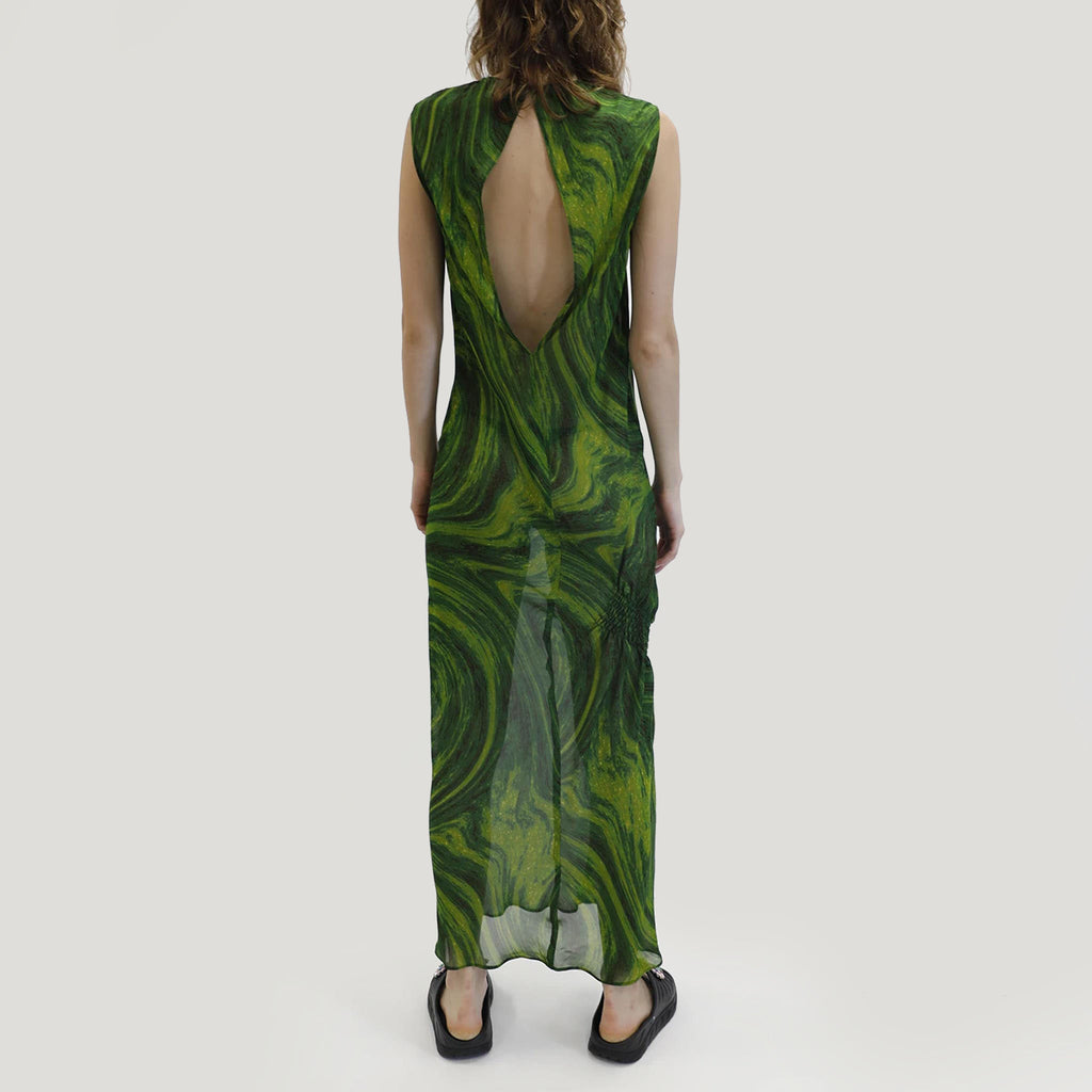 Collina Strada - Lawn Dress, back view, available at LCD.