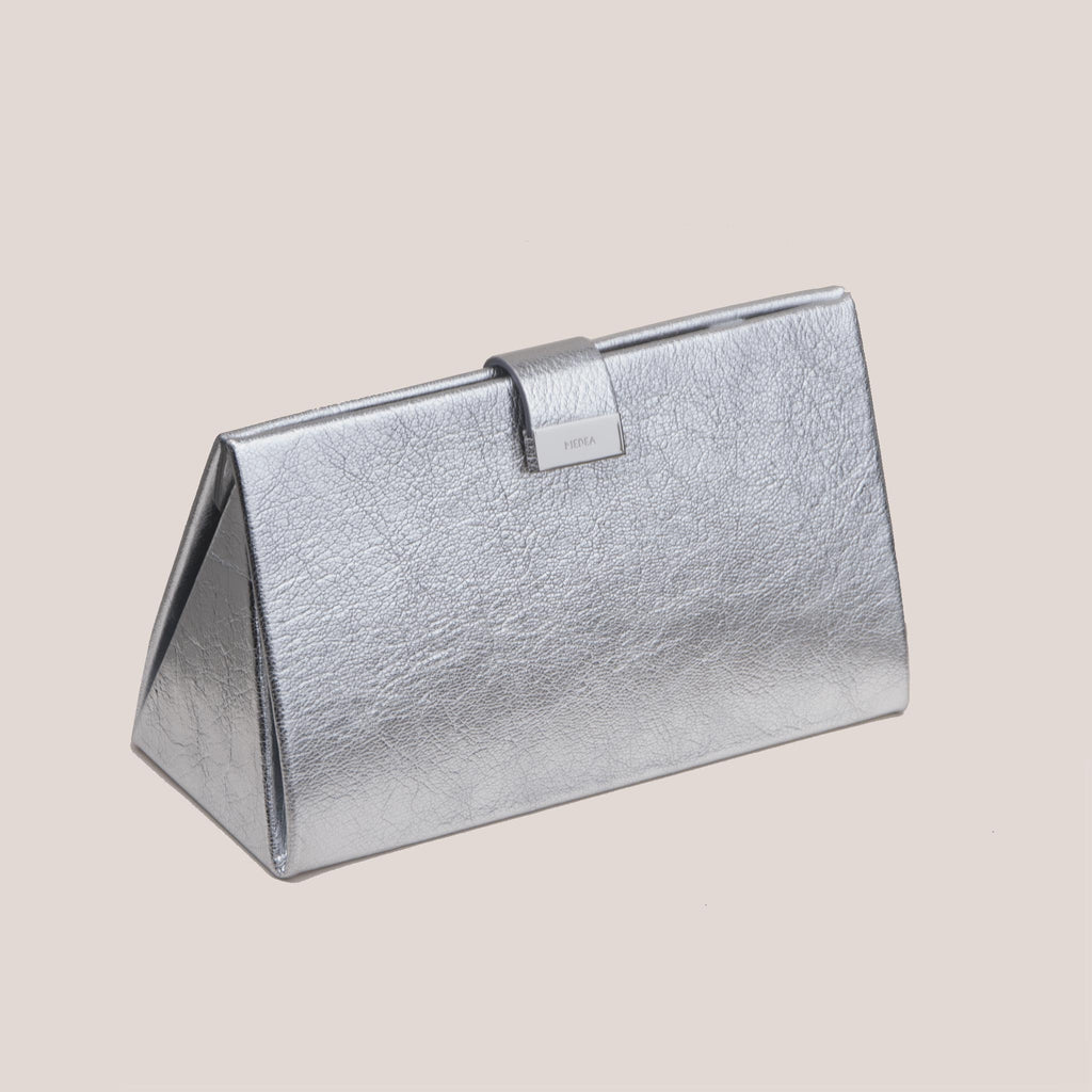 Medea - Lay Low Medea Bag - Silver, angled view, available at LCD.