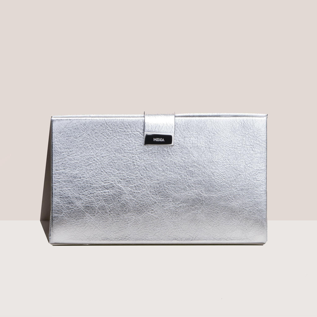 Medea - Lay Low Medea Bag - Silver, front view, available at LCD.