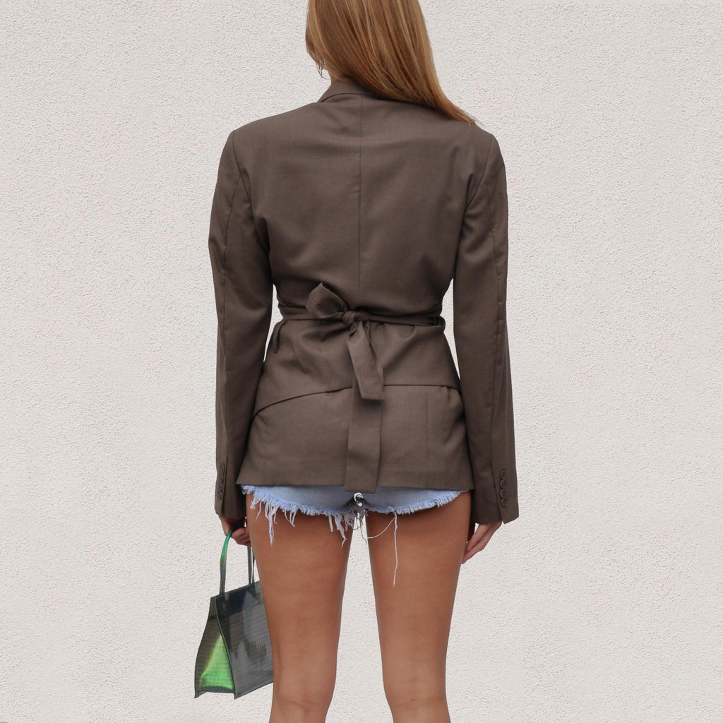 Low Classic - Layered Blazer, back view, available at LCD.