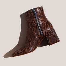Load image into Gallery viewer, LoQ - Lazaro Boot - Castaña Python, side view, available at LCD.
