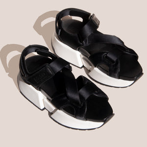MM6 - Leather Sports Sandal, angled view, available at LCD.