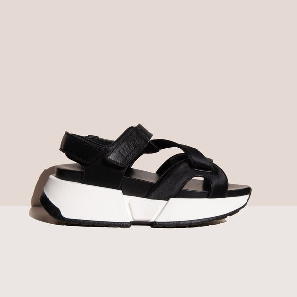 MM6 - Leather Sports Sandal, side view, available at LCD.