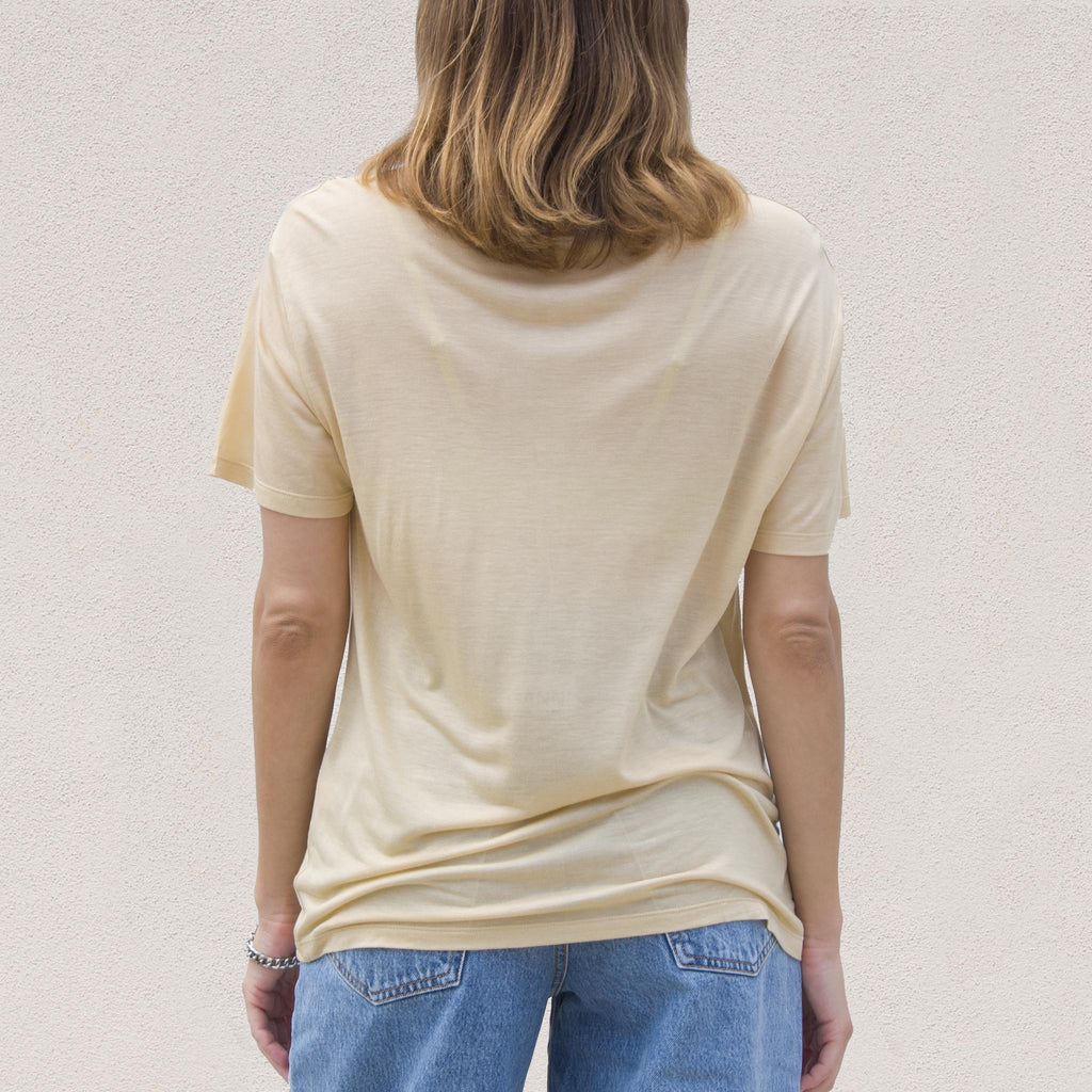 Baserange - Loose Tee - Tea, back view, available at LCD.