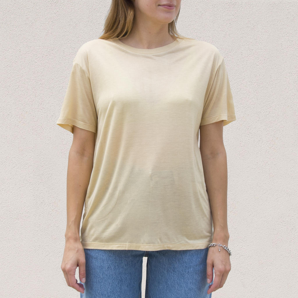 Baserange - Loose Tee - Tea, front view, available at LCD.