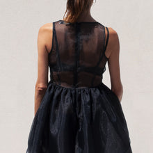 Load image into Gallery viewer, Kimhekim - Lotus Sleeveless Dress, back view, available at LCD.
