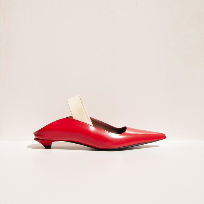 Proenza Schouler - Slingback Wave Pump - side view, available at LCD.