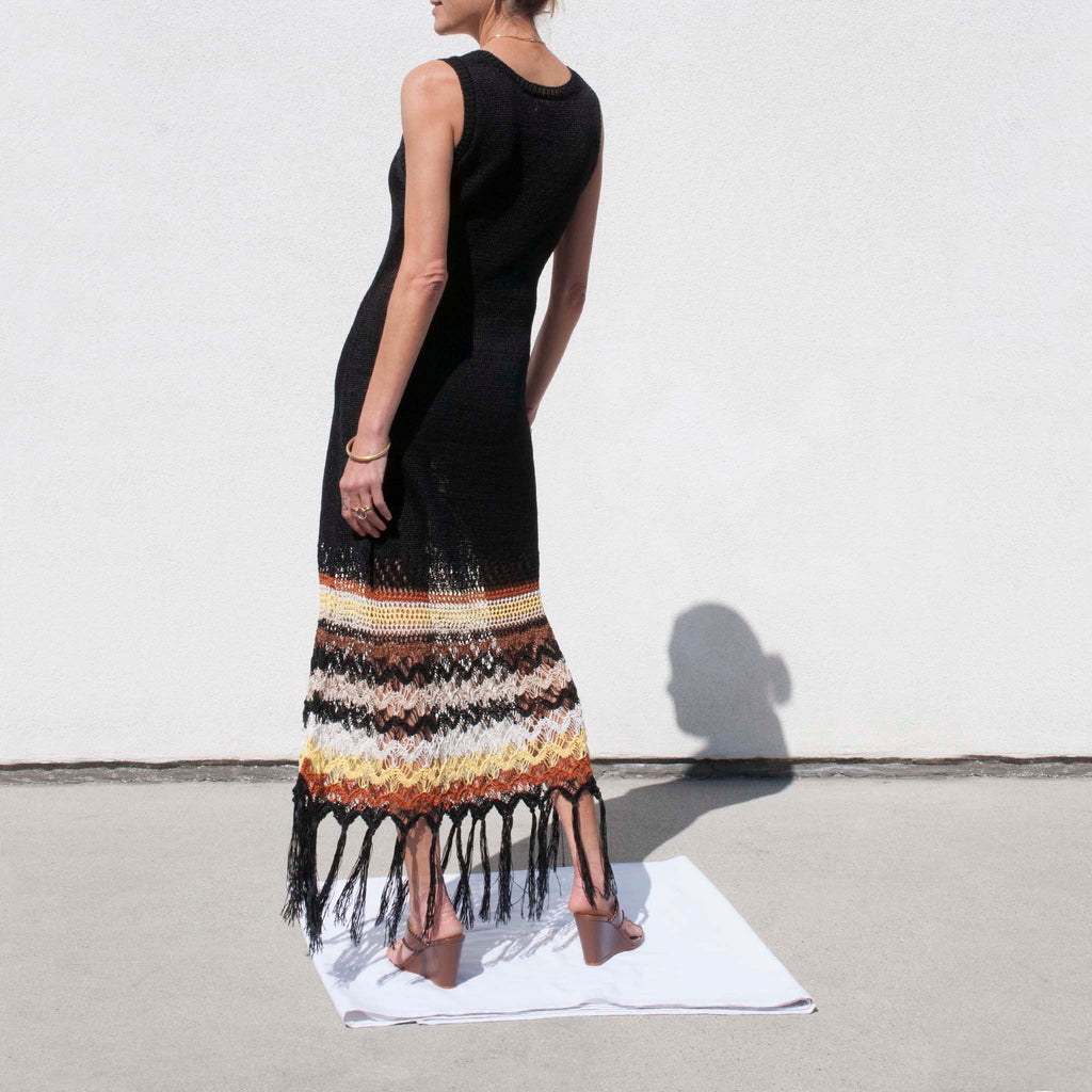 Wales Bonner - Lucia Knitted Dress, available at LCD.