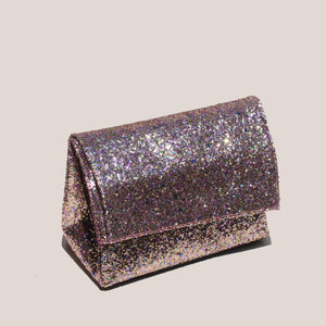 Simon Miller - Lunch Bag 20cm - Glitter Multi, angled view, available at LCD.