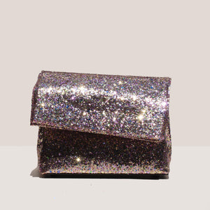 Simon Miller - Lunch Bag 20cm - Glitter Multi, front view, available at LCD.
