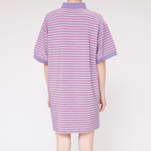 Load image into Gallery viewer, MM6 - Striped Lurex Polo Dress, back view, available at LCD.