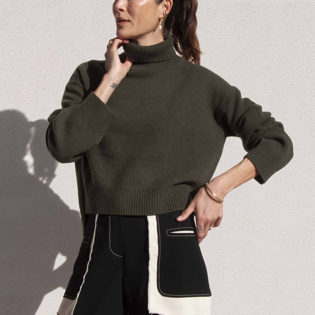 Rejina Pyo - Lyn Recycled Cashmere Sweater, angled view, available at LCD.