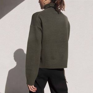 Rejina Pyo - Lyn Recycled Cashmere Sweater, back view, available at LCD.