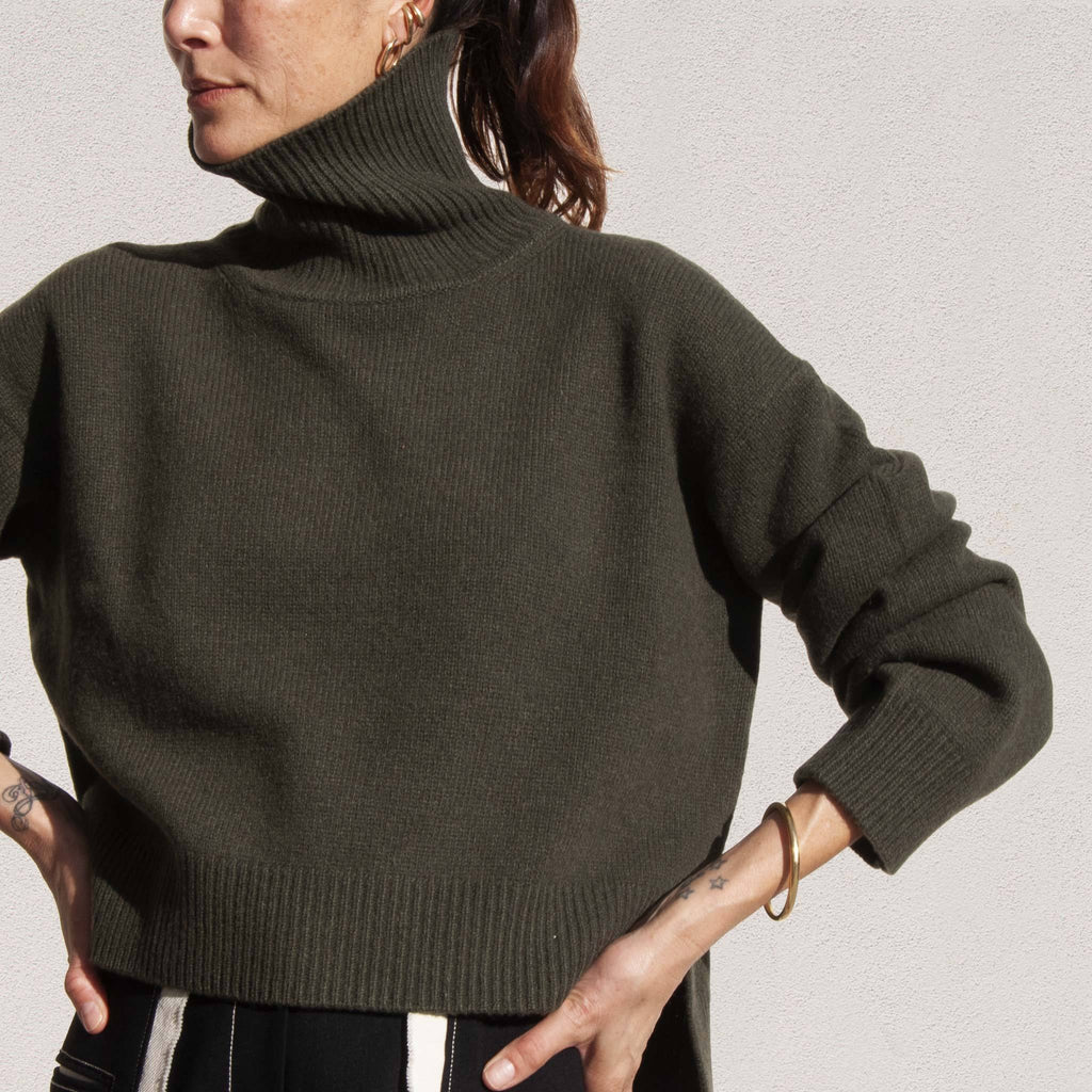 Rejina Pyo - Lyn Recycled Cashmere Sweater, front detail, available at LCD.