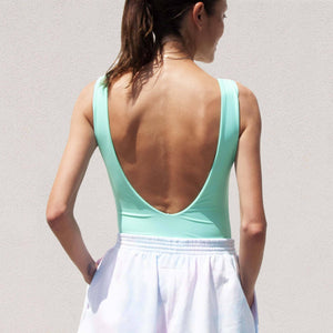 Stussy - Malia One Piece Swim Suit in Mint, back view, available at LCD.