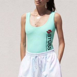 Stussy - Malia One Piece Swim Suit in Mint, front view, available at LCD.