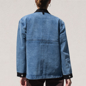 Stussy - Mallard Barn Jacket, back view, available at LCD.