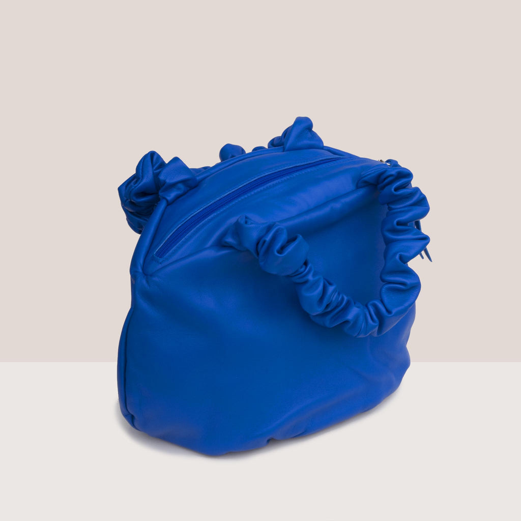 Maryam Nassir Zadeh - Margarita Bag - Blueprint, angled view, available at LCD.