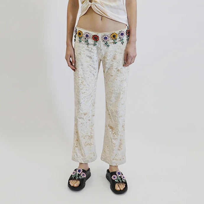 Collina Strada - Mariposa Rhinestone Pant, front view, available at LCD.