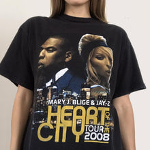Load image into Gallery viewer, Procell Vintage - Vintage Mary J. Blige & Jay-Z Tour Tee, front detail, available at LCD.