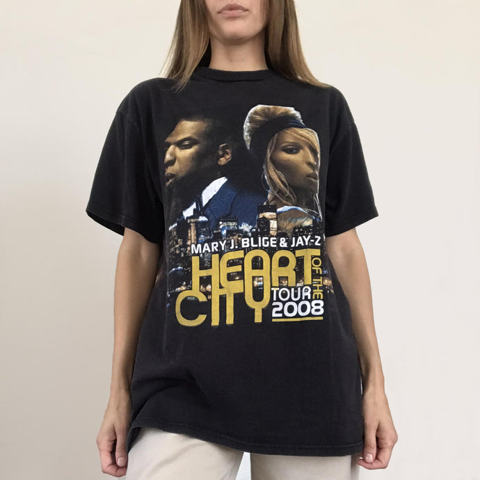 Procell Vintage - Vintage Mary J. Blige & Jay-Z Tour Tee, front view, available at LCD.