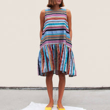 Load image into Gallery viewer, Henrik Vibskov - Master G Dress - Multi Stripe, front view, available at LCD.
