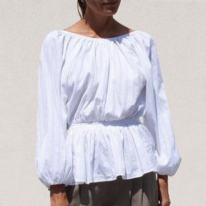 Mara Hoffman - Maud Blouse, front view, available at LCD.