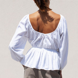 Mara Hoffman - Maud Blouse, back view, available at LCD.
