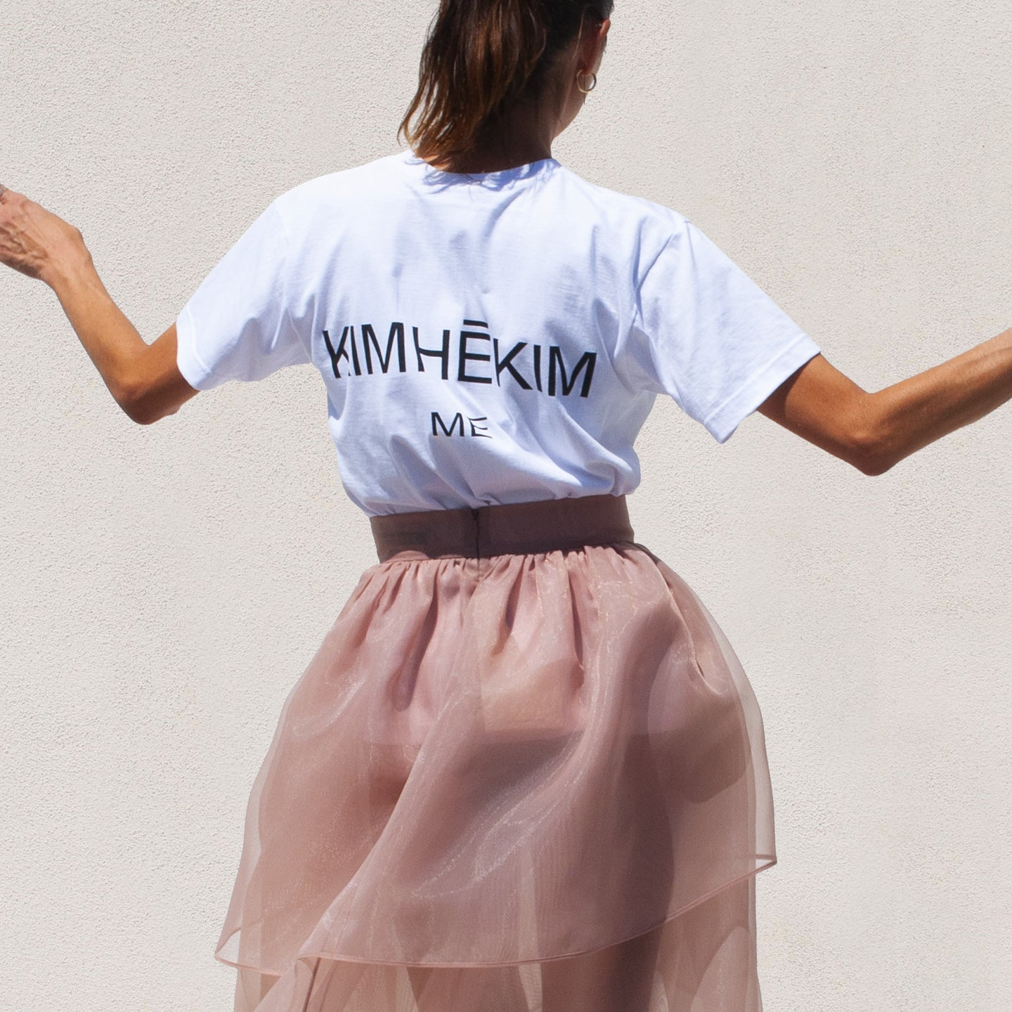 Kimhekim - Me Logo T-Shirt, back view, available at LCD.