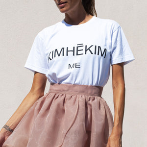 Kimhekim - Me Logo T-Shirt, front view, available at LCD.