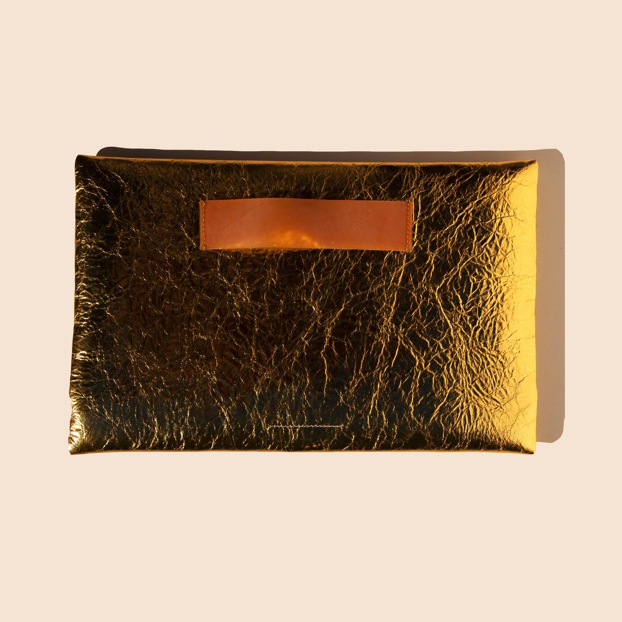 MM6 - Medium Zip Pouch - Gold, available at LCD